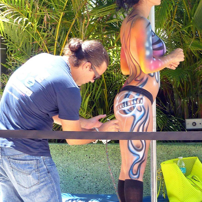 Body Painting. CLEVELANDER Bar