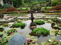 the butchart gardens fontanny w