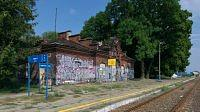 poland / motycz / railway station