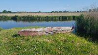 old boat on krutynia river